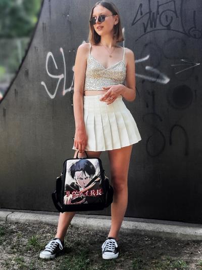Молодіжний рюкзак Леві Аккерман alba soboni 211521 колір чорний. Фото - 4