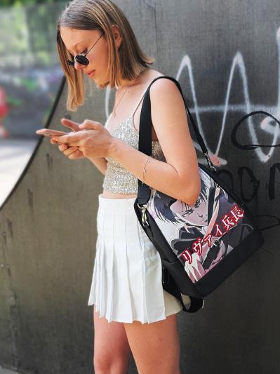 Молодіжний рюкзак Леві Аккерман alba soboni 211521 колір чорний. Фото - 7