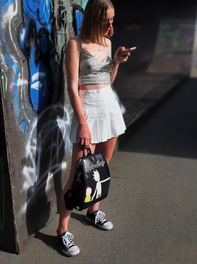 Модний рюкзак Рік і Морті alba soboni 211524 колір чорний. Фото - 2