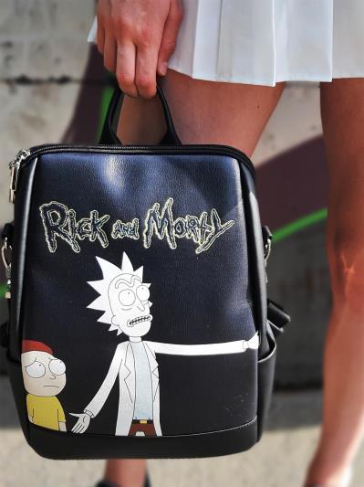 Модний рюкзак Рік і Морті alba soboni 211524 колір чорний. Фото - 3