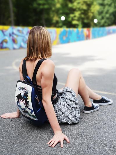 Молодіжний рюкзак Venti Genshin Impact alba soboni 211527 колір синій-перламутр. Фото - 4