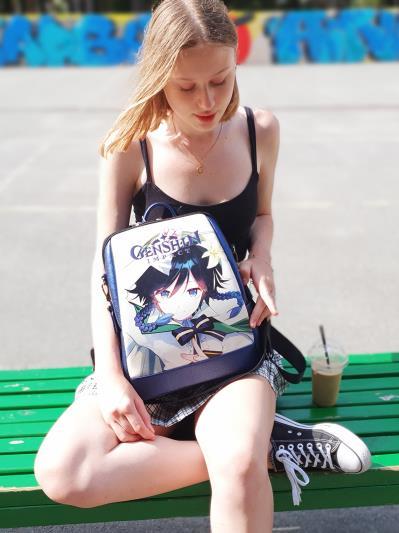Молодіжний рюкзак Venti Genshin Impact alba soboni 211527 колір синій-перламутр. Фото - 7