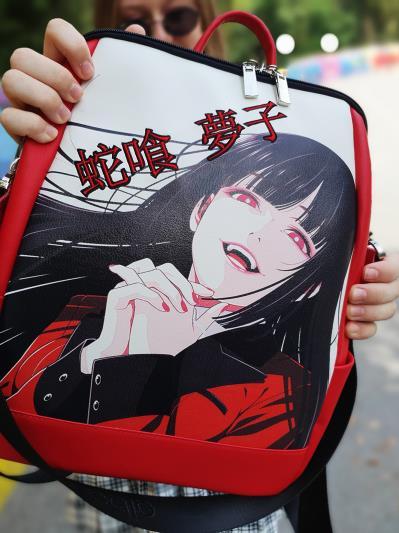 Шкоільний рюкзак аниме Безумный азарт alba soboni 211528 колір червоний. Фото - 3