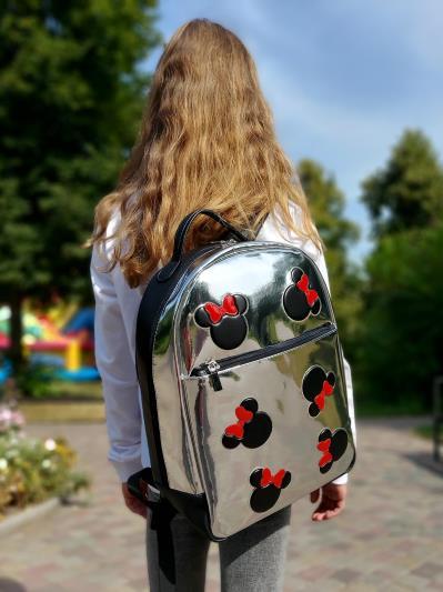 Рюкзак шкільний для дівчинки Микки Маус alba soboni 211501 колір срібло. Фото - 1