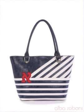 83a3df714148 Летняя сумка с вышивкой, модель 160053 синий-белый. Изображение товара, вид  спереди ...