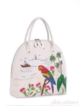 60340bce54d8 Летняя сумка с вышивкой, модель 160200 белый. Изображение товара, вид  спереди.
