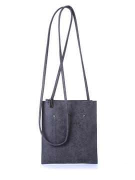 Модна сумка для покупок, модель 172756 темно-сірий. Зображення товару, вид спереду.