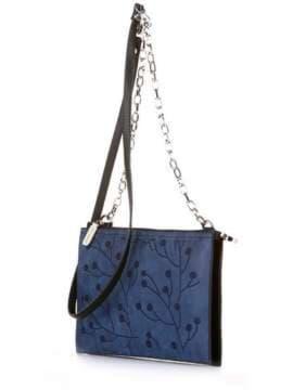 Модный клатч с вышивкой, модель 172769 черный. Изображение товара, вид сбоку.