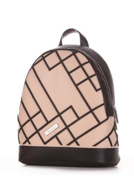 Рюкзак 192874 чорний-бежевий