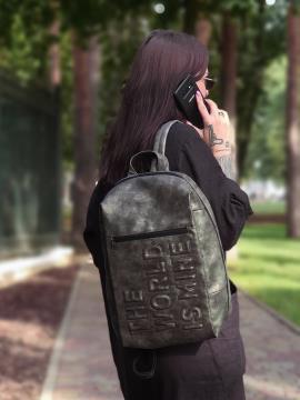 Фото товара: рюкзак 212365 темно-серый никель. Вид 1.