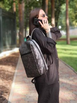 Фото товара: рюкзак 212365 темно-серый никель. Вид 2.