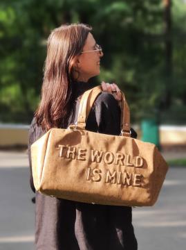 Дорожная сумка THE WORLD IS MINE alba soboni 212372 цвет коричневая . Фото - 2