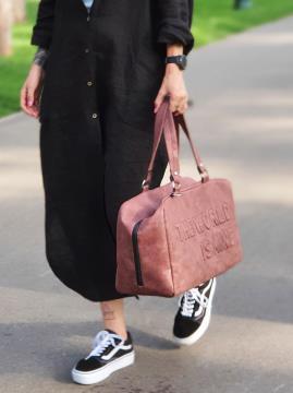 Дорожная сумка THE WORLD IS MINE alba soboni 212373 цвет бордо-никель . Фото - 2