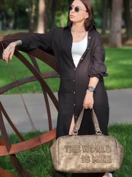 Дорожная сумка THE WORLD IS MINE alba soboni 212374 цвет хаки-никель . Фото - 2