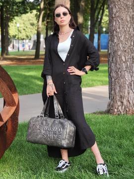 Дорожная сумка THE WORLD IS MINE alba soboni 212375 цвет темно-серый никель . Фото - 1