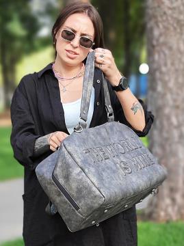 Дорожная сумка THE WORLD IS MINE alba soboni 212375 цвет темно-серый никель . Фото - 2