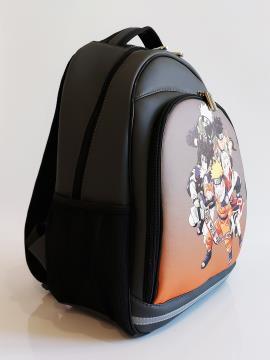 Рюкзак школьный для мальчиков и девочек Наруто alba soboni 211717 цвет темно-серый. Фото - 2