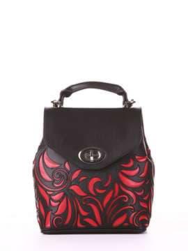 Молодежный рюкзак, модель 182924 черный. Изображение товара, вид спереди.