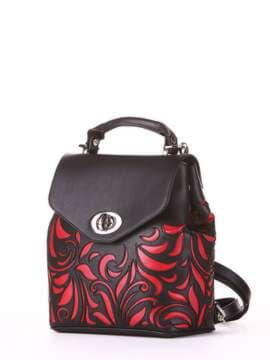 Молодежный рюкзак, модель 182924 черный. Изображение товара, вид сбоку.