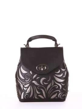Брендовый рюкзак, модель 182925 черный. Изображение товара, вид спереди.