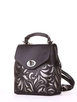 Брендовый рюкзак, модель 182925 черный. Изображение товара, вид сбоку.