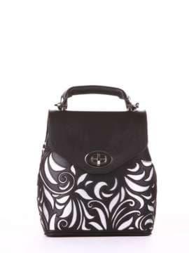 Модный рюкзак, модель 182926 черный. Изображение товара, вид спереди.