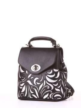 Модный рюкзак, модель 182926 черный. Изображение товара, вид сбоку.