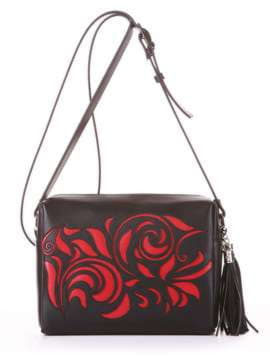 Брендовая сумка маленькая, модель 182914 черный. Изображение товара, вид спереди.