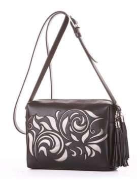 Модная сумка маленькая, модель 182915 черный. Изображение товара, вид сбоку.
