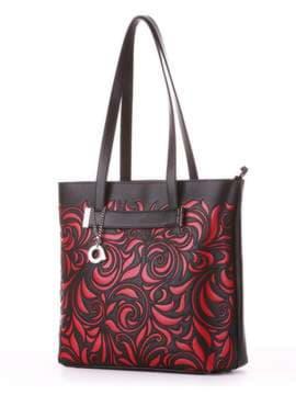 Молодежная сумка, модель 182904 черный. Изображение товара, вид сбоку.