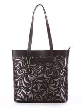 Молодежная сумка, модель 182905 черный. Изображение товара, вид спереди.