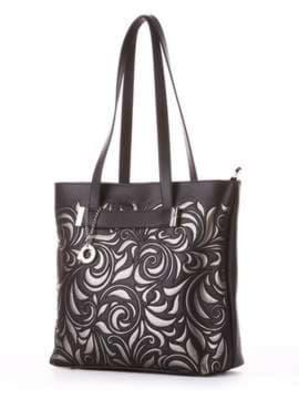 Молодежная сумка, модель 182905 черный. Изображение товара, вид сбоку.