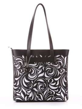 Молодежная сумка, модель 182906 черный. Изображение товара, вид спереди.