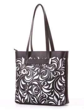 Молодежная сумка, модель 182906 черный. Изображение товара, вид сбоку.