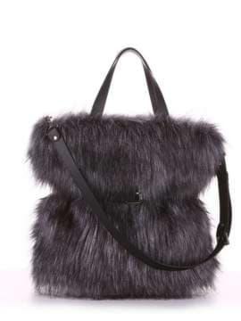 Модная сумка, модель 182931 черный. Изображение товара, вид спереди.