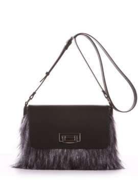 Молодежная сумка, модель 182933 черный. Изображение товара, вид спереди.