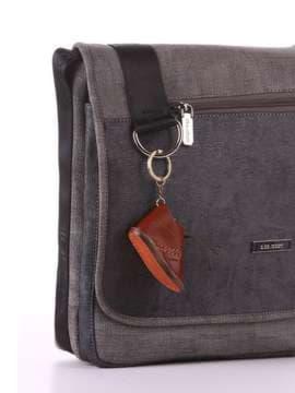 Стильный брелок ботинок кожаный коричневый. Изображение товара, вид 2