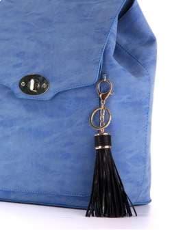 Модный брелок кожаная черная подвеска. Изображение товара, вид 2