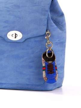 Брендовый брелок кроссовок кожаный синий. Изображение товара, вид 2