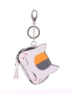 Стильный брелок мини сумочка кошка с ушками белая. Изображение товара, вид 1