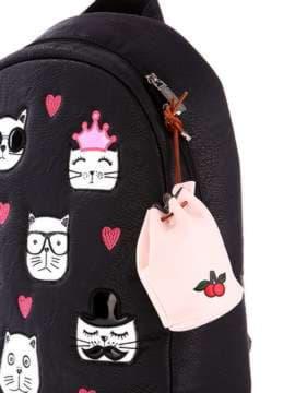Молодіжний брелок міні сумочка зі шнурком рожевий. Зображення товару, вид 2