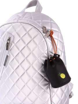 Модний брелок міні сумочка зі шнурком чорний. Зображення товару, вид 2