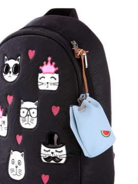 Молодежный брелок мини сумочка со шнуром голубая. Изображение товара, вид 2