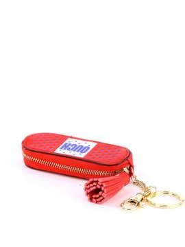 Модный брелок мини сумочка красная. Изображение товара, вид 1