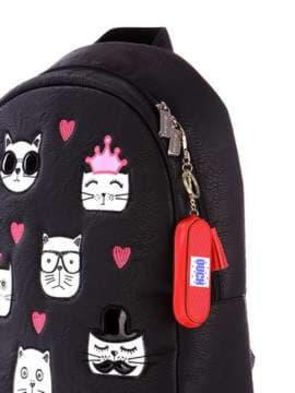 Модный брелок мини сумочка красная. Изображение товара, вид 2
