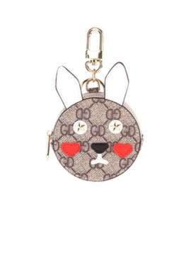 Стильный брелок мини сумочка заяц серая. Изображение товара, вид 1