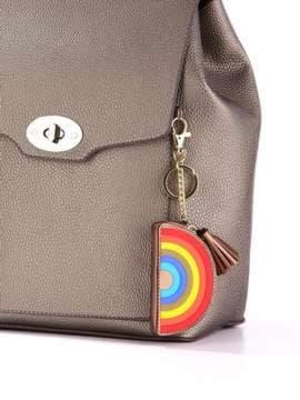 Молодежный брелок мини сумочка радуга бронзовая. Изображение товара, вид 2