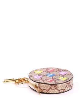 Модный брелок мини сумочка с осминогами коричневая. Изображение товара, вид 1
