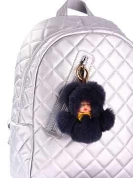 Стильный брелок кукла в меху черная. Изображение товара, вид 2