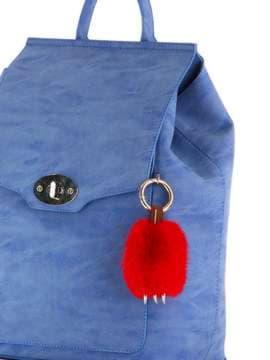 Модный брелок подвеска лапа красная. Изображение товара, вид 2